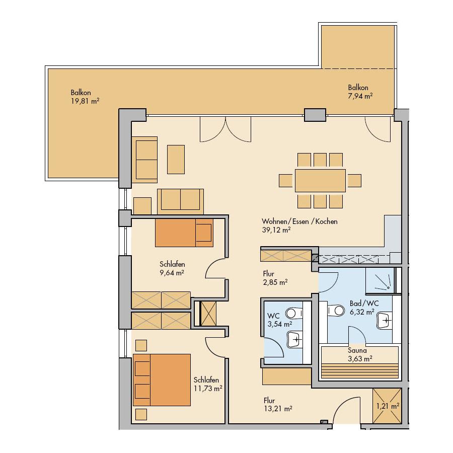 Haus Meerdüne Wohnung 12