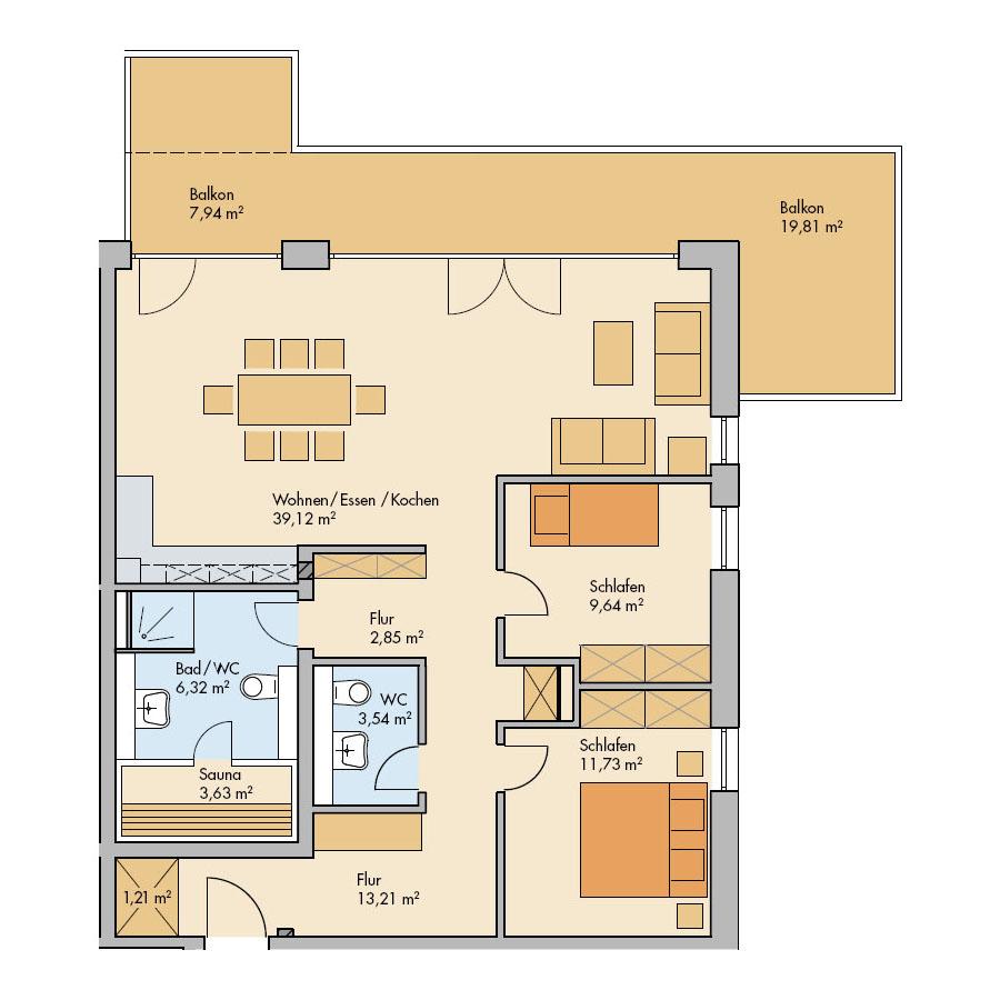 Haus Meerdüne Wohnung 13