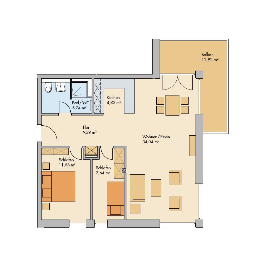 Haus Meerdüne Wohnung 14